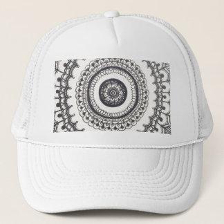 Casquette Mandala noir et blanc Snapback par Megaflora
