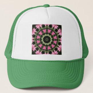Casquette Mandala-style floral, fleurs roses 2,2