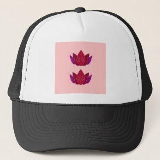 Casquette Mandalas rouge-rose