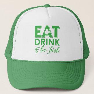Casquette Mangez, boisson et soyez le jour de St Patrick
