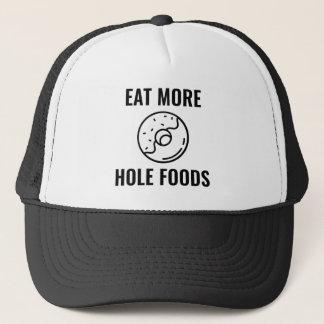 Casquette Mangez de plus de nourritures de trou
