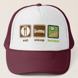 Casquette mangez le beisbol de sommeil