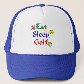 Casquette Mangez le golf de sommeil