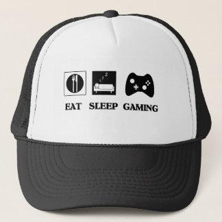 Casquette Mangez le jeu de sommeil