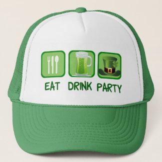 Casquette Mangez le jour de St Patrick drôle de partie de