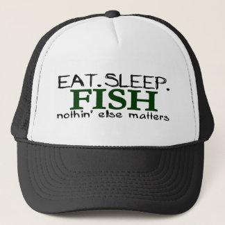 Casquette Mangez les poissons de sommeil