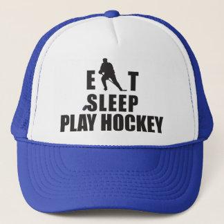 Casquette Mangez l'hockey de jeu de sommeil