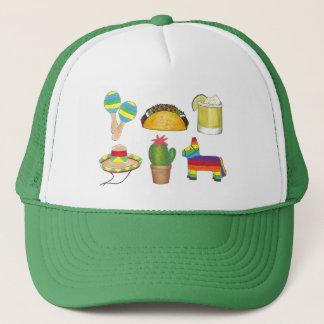Casquette Maracas de cactus de taco de Pinata de fiesta de