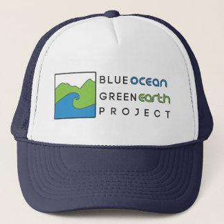 Casquette Marine bleue de chapeau de projet de la terre