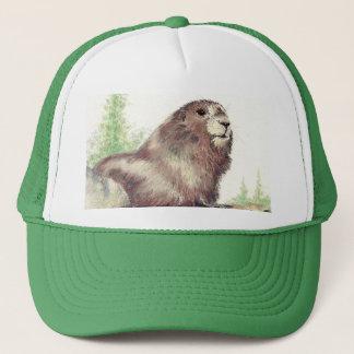 Casquette Marmot mignon, nature, faune, animal