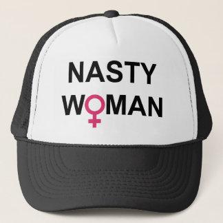 Casquette méchant de vote de femme