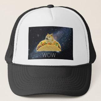 Casquette meme de taco de l'espace de doge