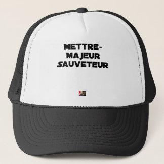 Casquette METTRE MAJEUR SAUVETEUR - Jeux de mots