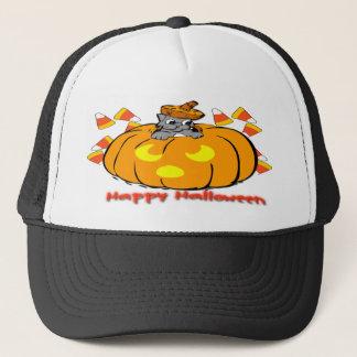 Casquette mignon de citrouille de Kitty Halloween