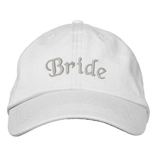 Casquette mignon de mariage brodé par jeune mariée