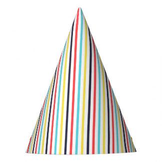 Casquette mince vertical de partie de rayures de chapeaux de fètes