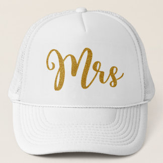 Casquette Mme Gold Glitter Typography