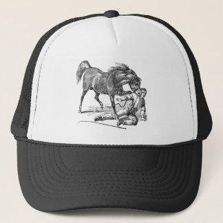 Casquette Modèle acéré méchant fâché vintage de cheval