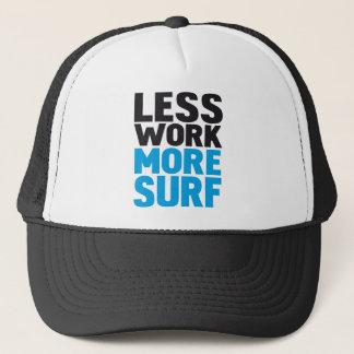 Casquette Moins de travail plus surf