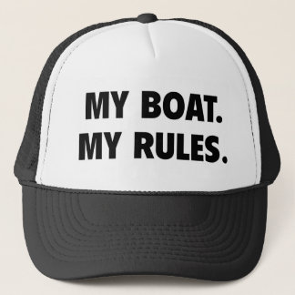 Casquette Mon bateau. Mes règles