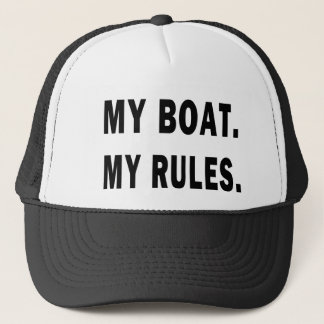 Casquette Mon bateau. Mes règles - canotage drôle