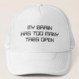 Casquette Mon cerveau a trop d'étiquettes ouvertes