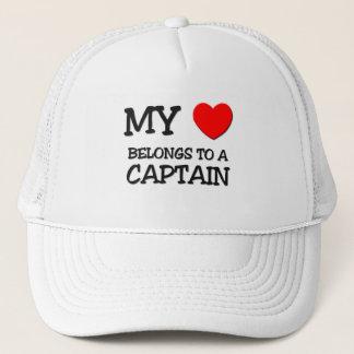 Casquette Mon coeur appartient à un CAPITAINE