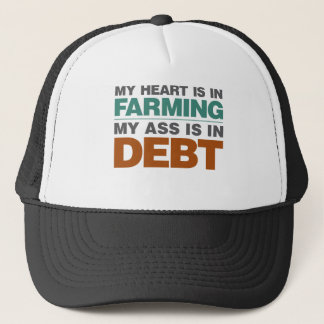 Casquette Mon coeur est dans l'agriculture mais…