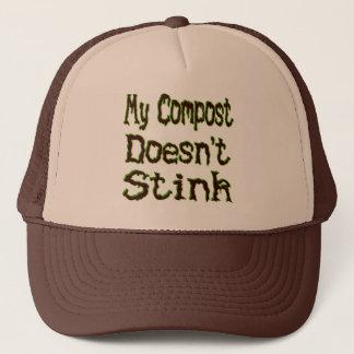 Casquette Mon compost n'empeste pas le jardinier drôle