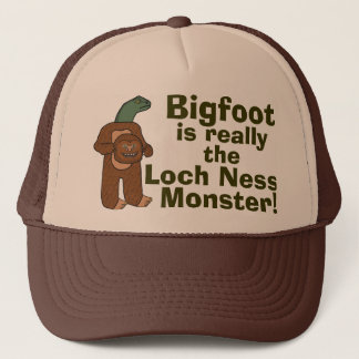 Casquette Monstre drôle de Bigfoot Loch Ness