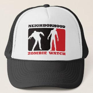 Casquette Montre de zombi de voisinage - rouge