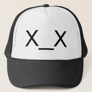 casquette mort d'émoticône de x_x
