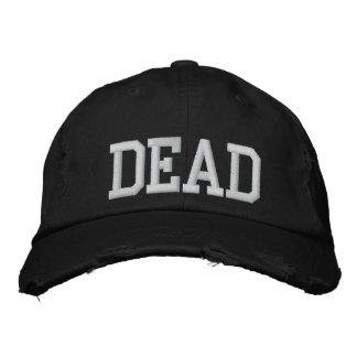 Casquette mort noir unisexe casquette brodée