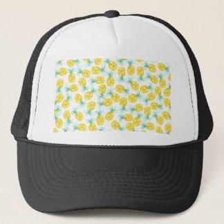 Casquette Motif à la mode d'ananas d'aquarelle de vert jaune