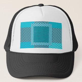 Casquette Motif abstrait de turquoise