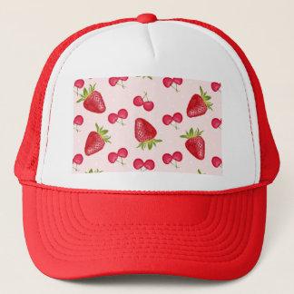 Casquette Motif de fiesta de cerises de fraises