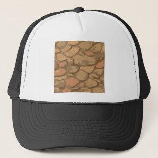 Casquette motif en pierre