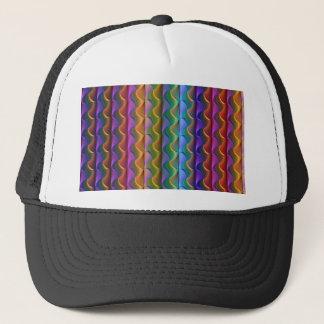 Casquette Motif psychédélique coloré lumineux