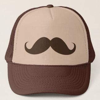 Casquette Moustache brune drôle de moustache de guidon