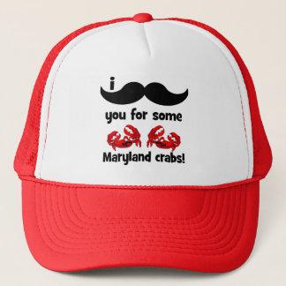Casquette Moustache I vous pour quelques crabes du Maryland