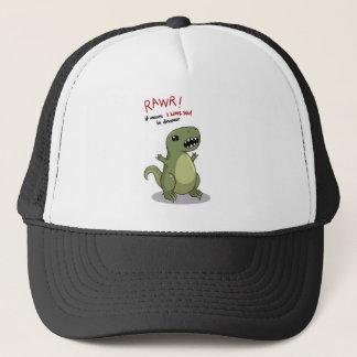 Casquette Moyens de Rawr je t'aime dans le dinosaure