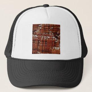 Casquette mur de roche de forme de forme d'érosion