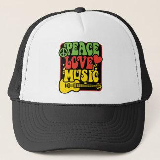 Casquette Musique d'amour de paix de Rasta