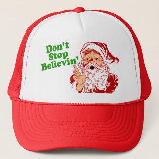 Casquette Ne cessez pas de croire au Père Noël