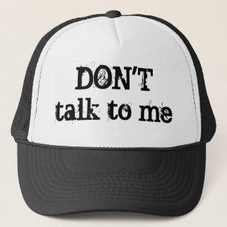 Casquette Ne parlez pas