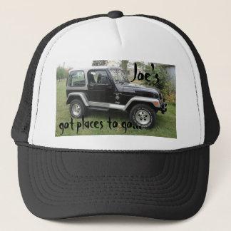 Casquette noir et par gris customisé de casquette
