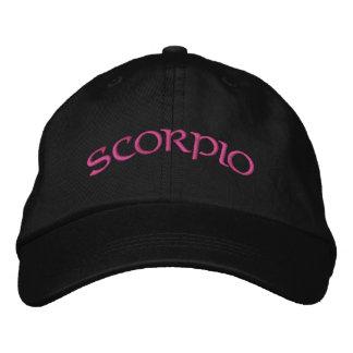 Casquette noir/magenta de zodiaque de Scorpion