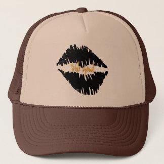 Casquette Noircissez un baiser Goth de peloton de jeune