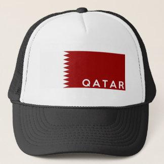 Casquette nom des textes de drapeau de pays du Qatar