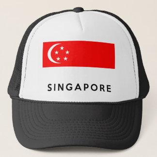 Casquette nom des textes de pays de drapeau de Singapour